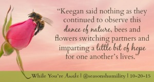 While You're Awake Bee Quote Card 4