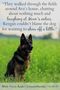 While You're Awake Dog Quote Card 1