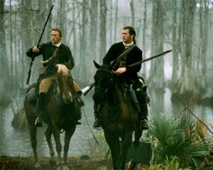 "Heath Ledger & Mel Gibson in ""The Patriot"". A favorite film set during the American Revolution."