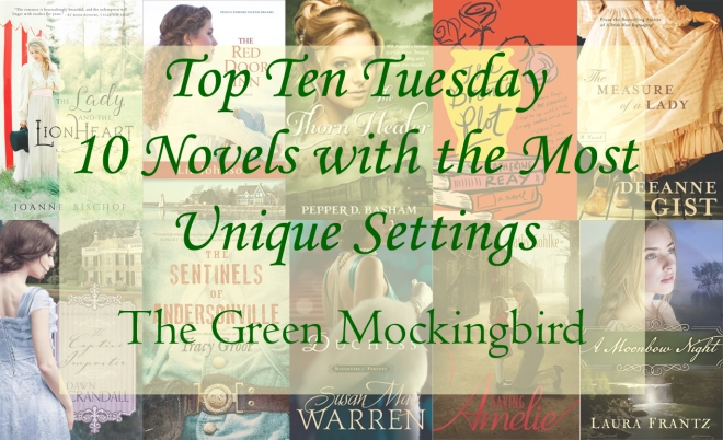 Top Ten Tuesday 10 book cover graphic for unique settings.jpg
